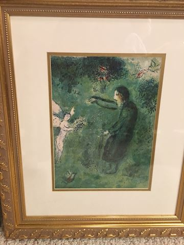 Chagall,Daphnis and Chloe lithographs.