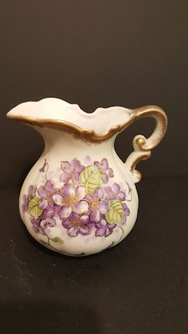 Vintage Lefton China Decorative Flower Pitcher