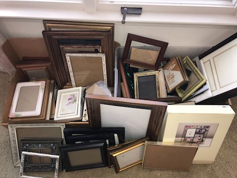 Big lot picture frames, assorted sizes, styles