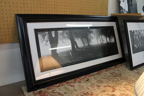 Framed Landscape Black and White Photo