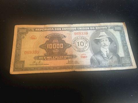 Vintage Brazil 10000 note