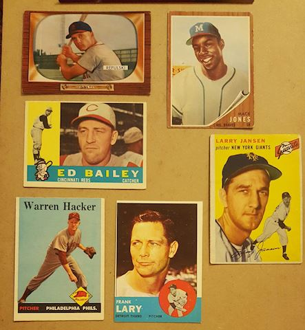 Estate Collection of 6 Vintage Baseball Cards