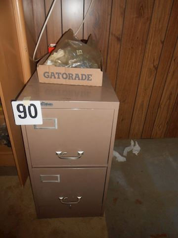 Lot #90 metal file cab