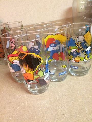 Smurf 1982 glasses