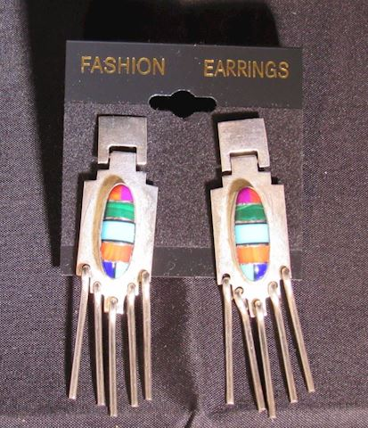Sterling Silver Pierced Earrings by H. Lewis