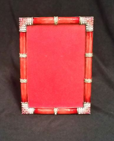 JAY STRONGWATER RED LAQUERED BEJEWELED FRAME