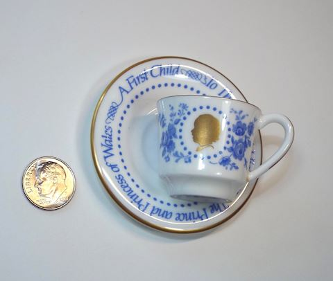 Miniature Cup & Saucer by Royal Worcester