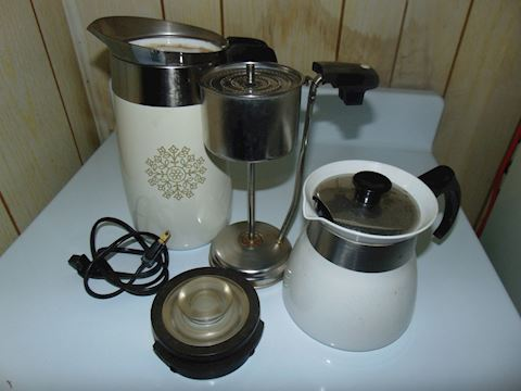 Two Corning Coffee Pots