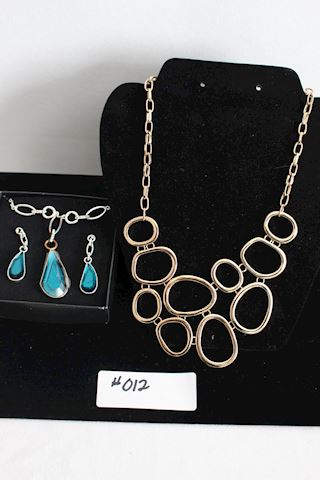 #012 New Lot 2 Necklace and Earring Gift Sets