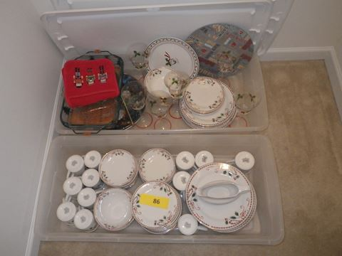 Lot #86 - Gibson Christmas Dishes