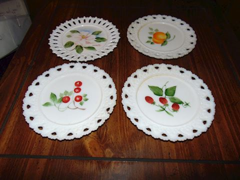 Milk White Decorative Plates