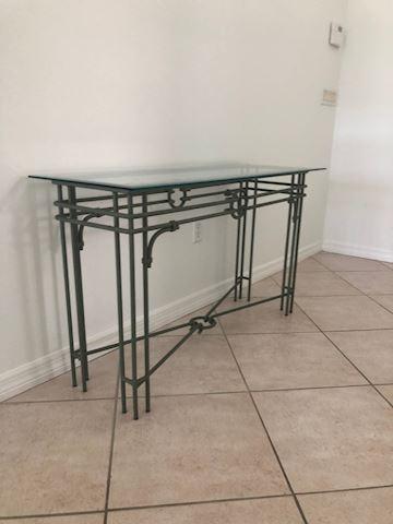 Iron and Glass Hall / Sofa Table