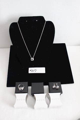Lot #017 New  Lot Sterling  Necklace Earrings Ring