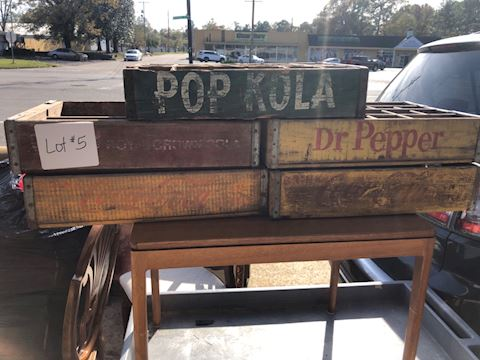 Vtg Soda Crates - RC Dr Pepper Coke Pop Kola lot05