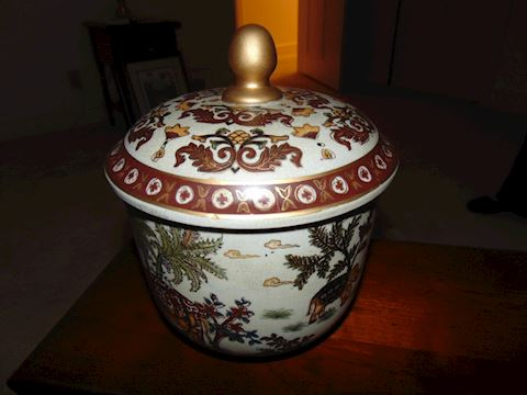 Vintage Chinese Pot with Lid