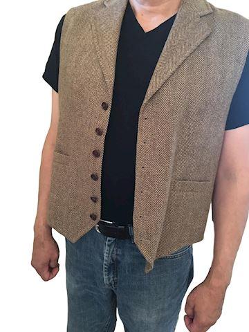Men's Wood Orvis Vest Size Large