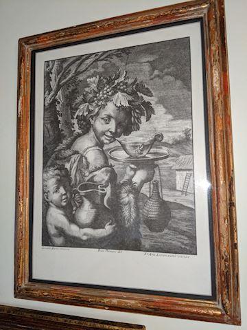 Italian framed print