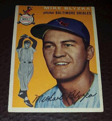 1954 Mike Blyzka Baltimore Orioles Baseball Card