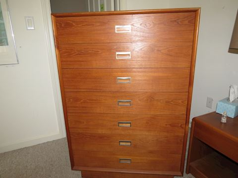 Mid Century Made in Denmark 7-Drawer Chest