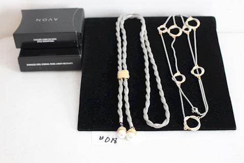 #018 Lot 2 New Avon Long Fashion Necklaces