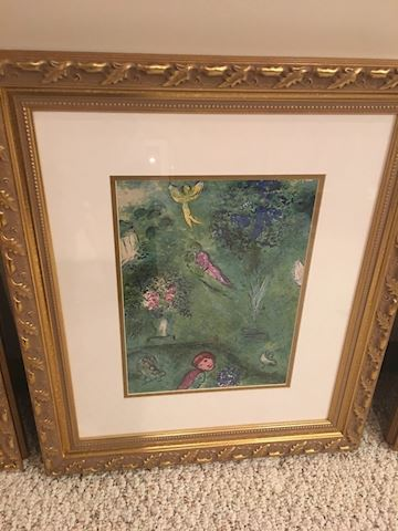 Chagall, Daphnis and Chloe lithograph