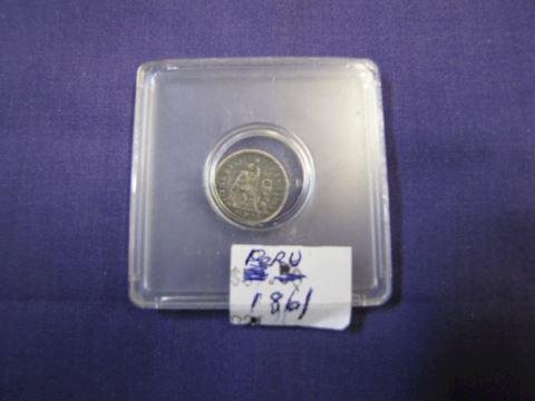 Coin - 1861 Peru Silver Coin