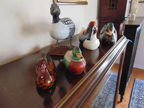 Carved Wooden Duck Collection