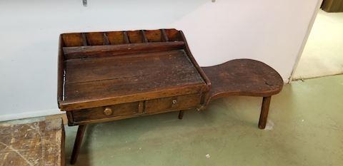 Antique wood cobblers work bench