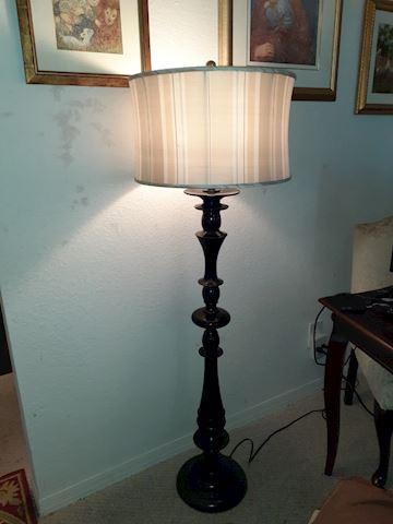 Floor Lamp w/ Silk Shade