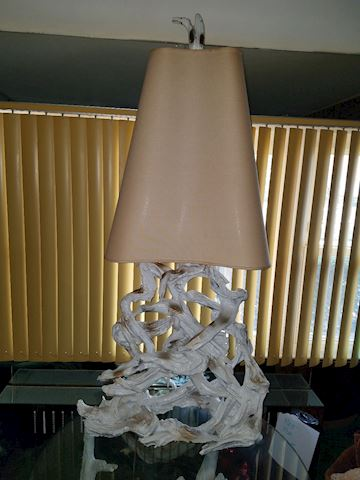 MCM Driftwood Lamp