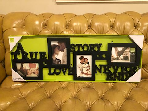 a True love ner ends picture frame