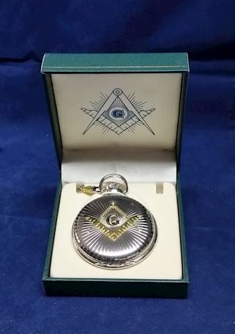 Watch-Pocket with chain Masonic