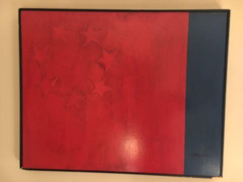 Herb Lotz Flag Painting - Modern Art