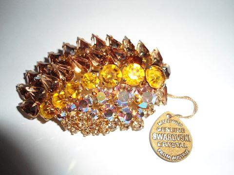 Vintage Swarovski Rhinestone Brooch