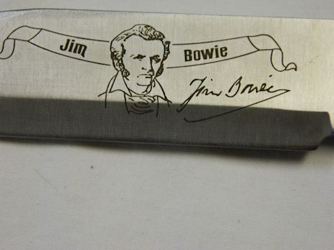 Fixed Blade Knife - Inscribed Jim Bowie