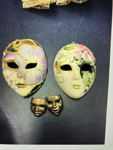 Hanging Mask and brouche