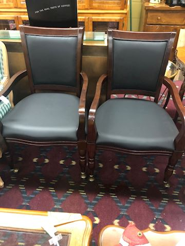 PAIR of game chairs on casters