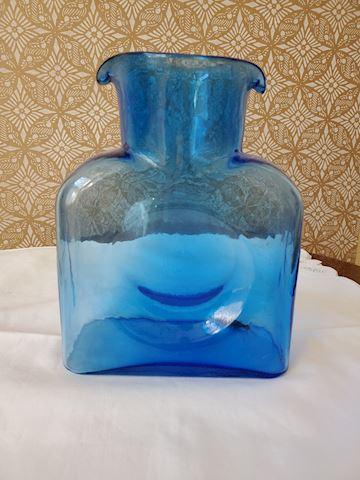 Blue glass Benko water pitcher