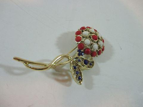 """Vintage  2 1/2"""" Daisy Sick Pin Brooch 60's"""
