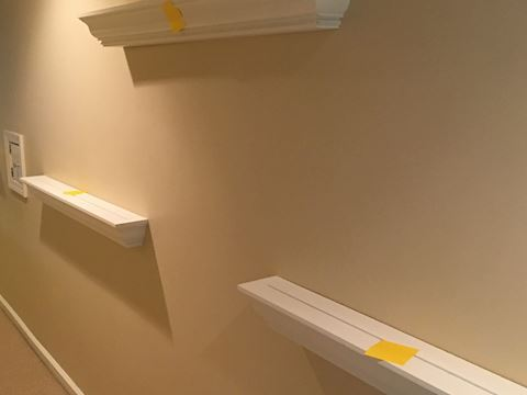 Collection of 5 4-foot Wall Display Shelves