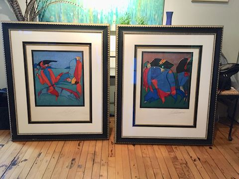 Lot 30 Mihail Chemiakin LE 2 Lithographs signed