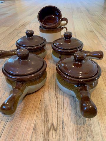 Stoneware Mini Crocks/ Mug Set