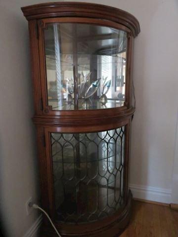 Antique Corner Curio/China Cabinet
