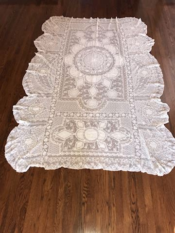 Antique Normandy Lace Twin Bedspread #1