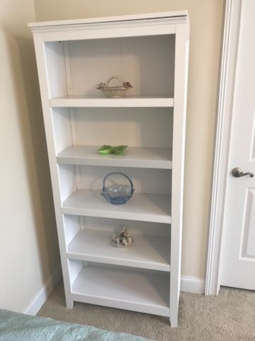 6 ft solid white wood shelf
