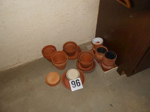 Lot #96 Clay pots