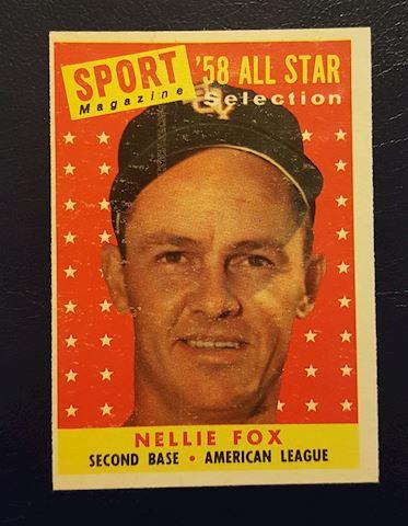 1958 Nellie Fox Baseball Card #479