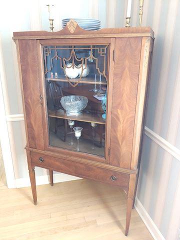 Antique Hutch w/ Inlay Limbert Furniture
