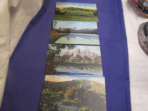 Vintage Wyoming Post Cards