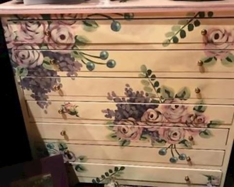 Painted jewelry chest